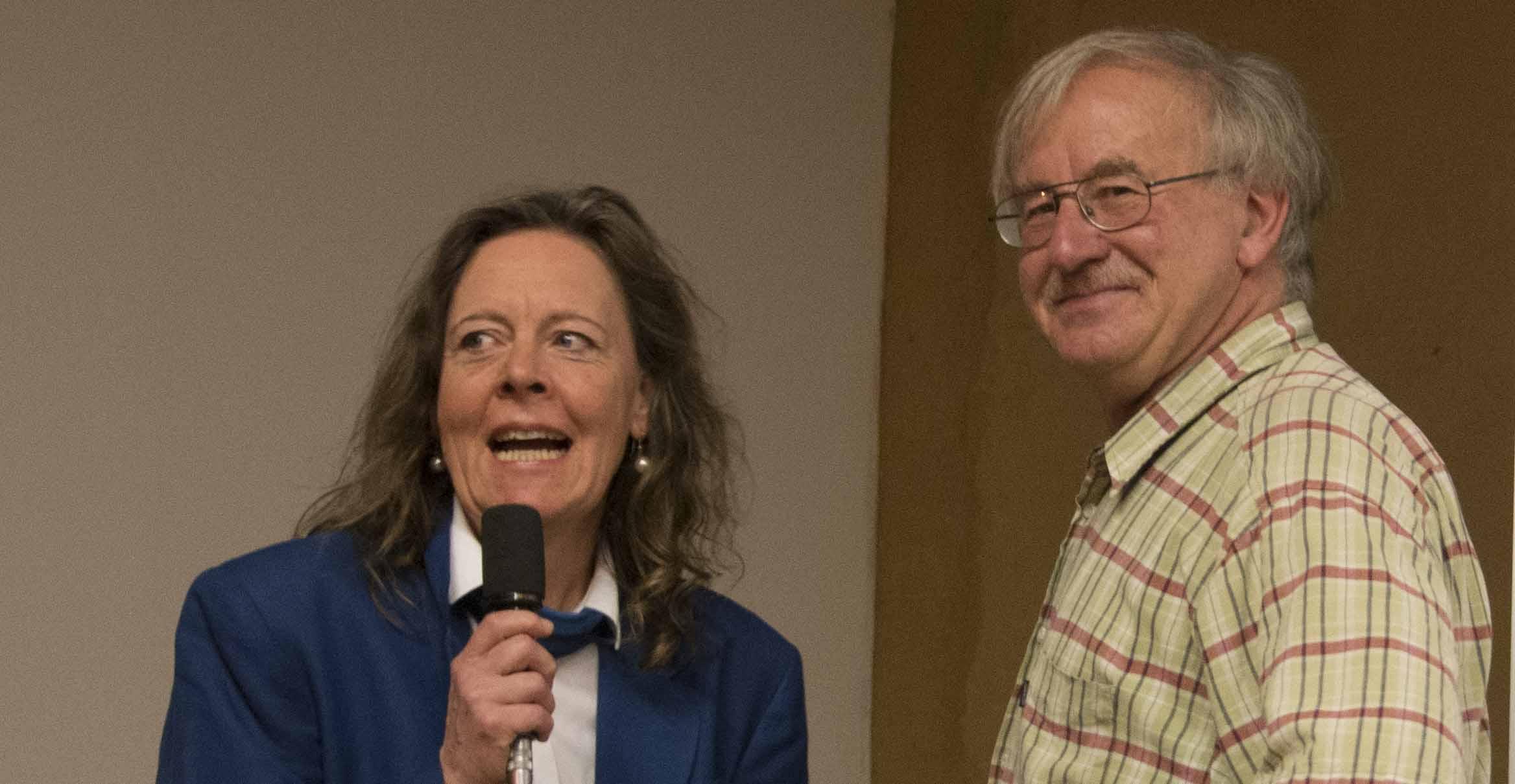 Dr. Monika Krout mit Franz Mayerhofer