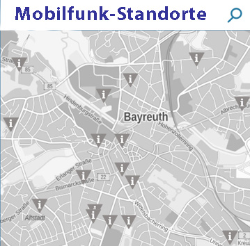 Mobilfunkstandorte EMF Datenbank Bundesnetzagentur
