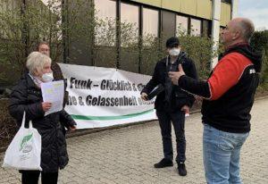 Protest gegen WLAN in Mainleus